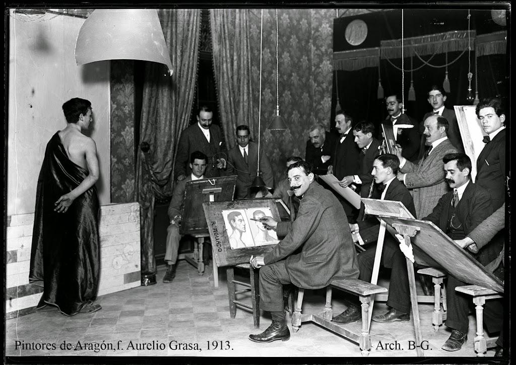 Pintores en arag n siglo xx foto aurelio grasa 1913 barboza grasa - Pintores zaragoza ...